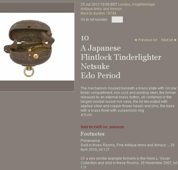 Bonhams 1793 - A Japanese Flintlock Tinderlighter Netsukev1az.png